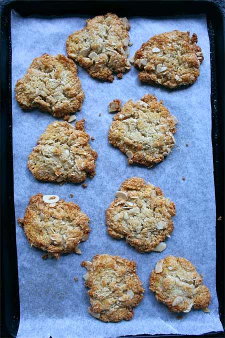 Healthy Anzac Cookies